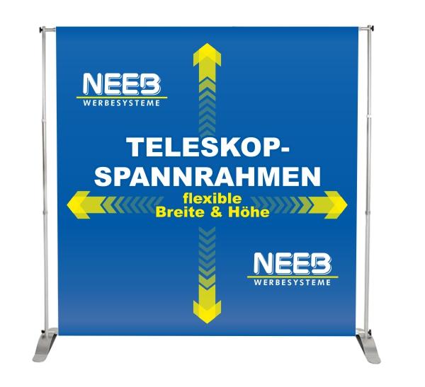 Teleskop-Spannrahmen-Textilbanner-Hohlsaumbanner