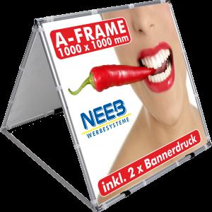 AFrame Bannerrahmen Pop Up 1 X 1 M