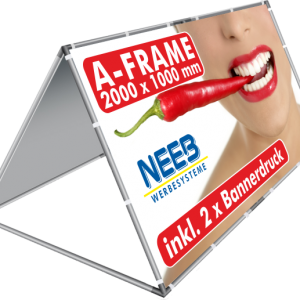 AFrame Bannerrahmen Pop Up 2 X 1 M