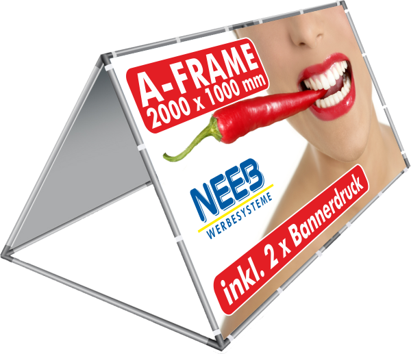 AFrame Bannerrahmen Pop Up 2 X 1 M