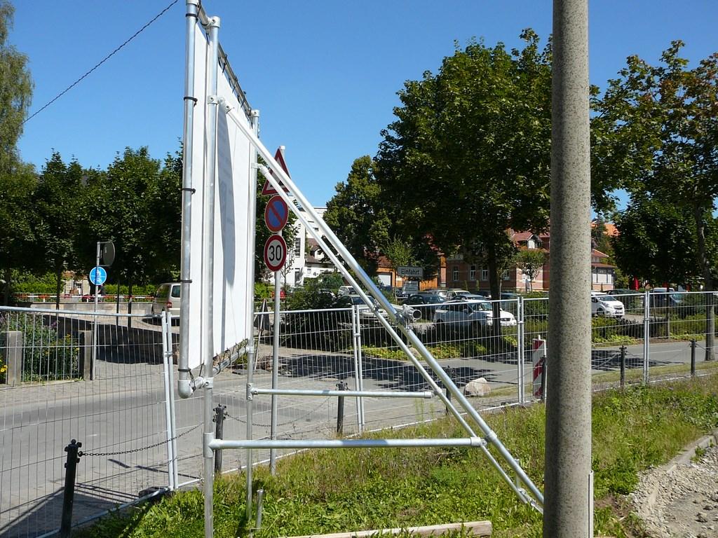 Bannerrahmen Stecksystem Freistehend Für Bauschilder